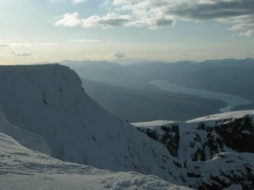 Final slopes of Tower Ridge